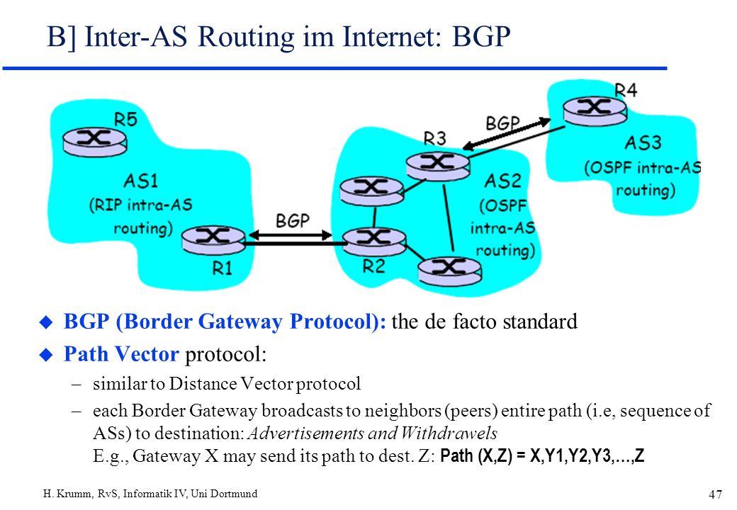 B] Inter-AS Routing im Internet: BGP